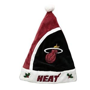 Miami Heat Santa Hat NWT One Size Fits All